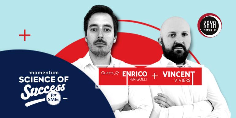Enrico Ferigolli and Vincent Viviers, owners of Bottles App.