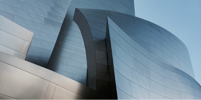 Building made of geometric, structured angles emphasises this impressive and bold architecture.