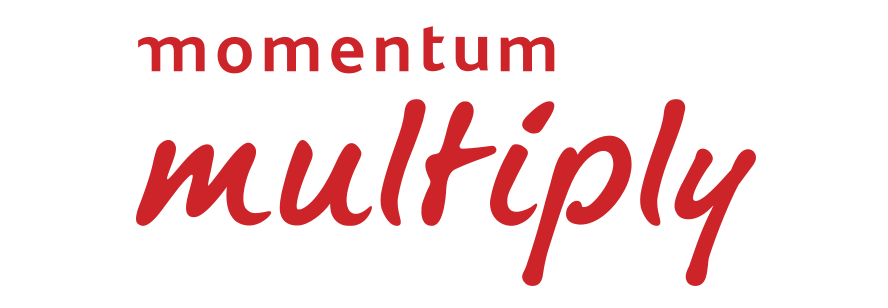 Red Momentum Multiply logo
